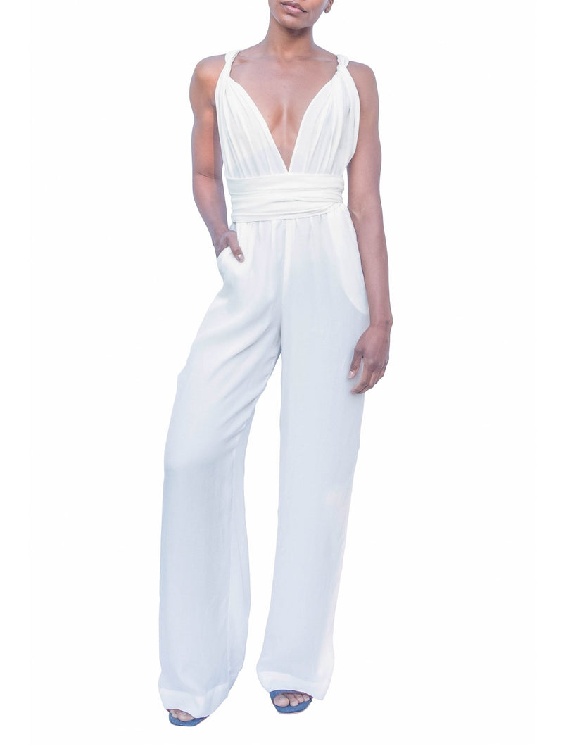 Sustainable UMY Blanc Convertible Jumpsuit - diarrablu