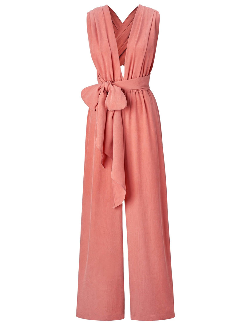 Sustainable UMY Salmon Convertible Jumpsuit - diarrablu