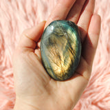 Labradorite Palm Stone Orange