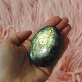 Labradorite Palm Stone Yellow