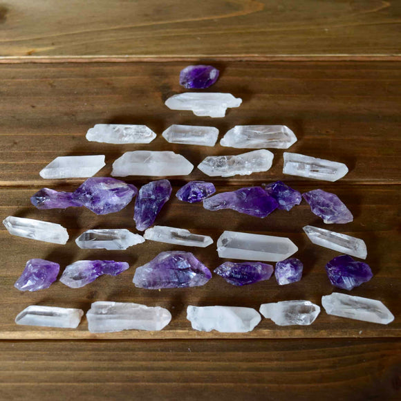 These purple and clear amethyst tower crystals have true healing power and are great for meditation