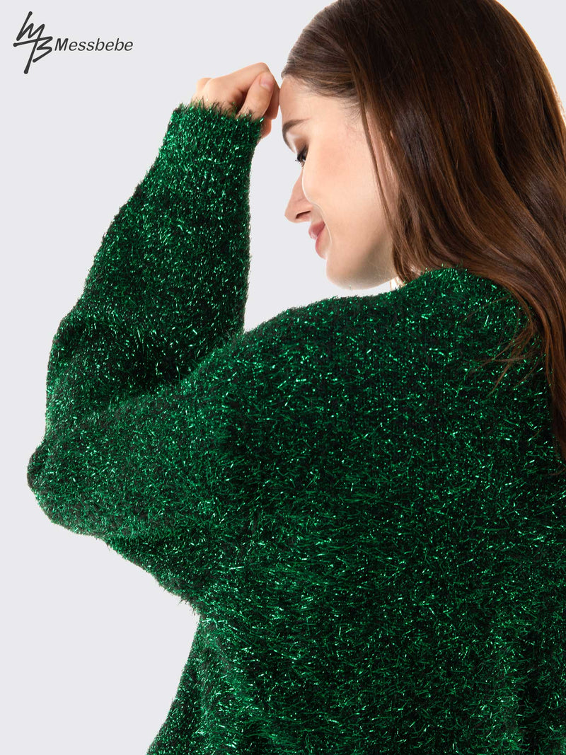 Christmas Glitter Loose Sweater