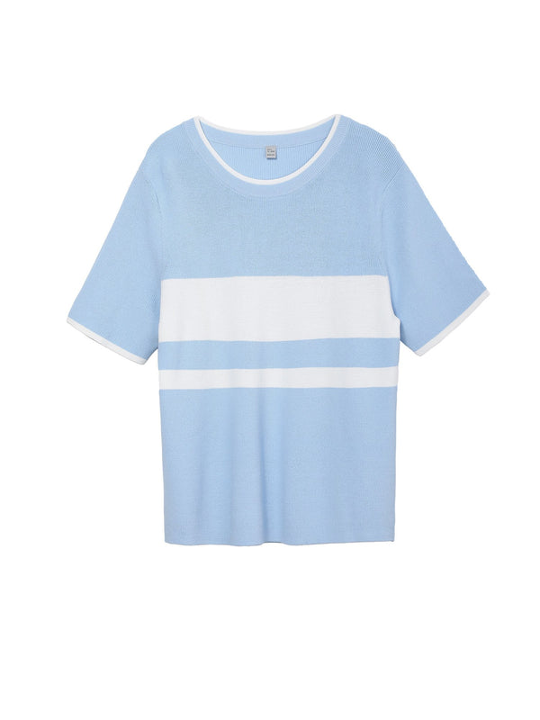 Striped T-shirt women's short sleeve loose short summer tops