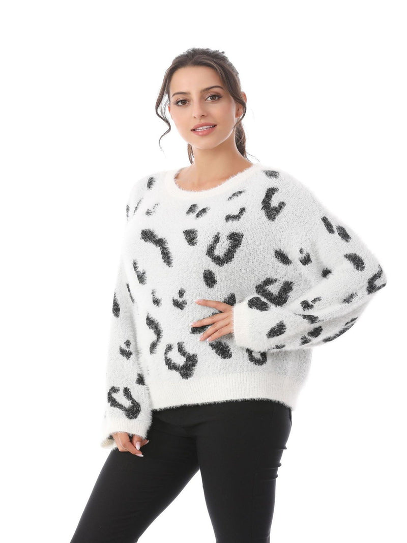 Women's Leopard Casual Loose Sweater