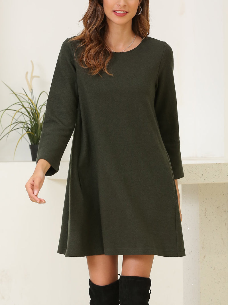 Long Sleeve Wool Blend Tunic Top