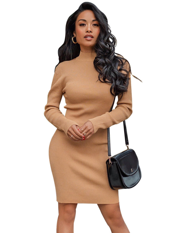Bodycon Backless Sweater Dress