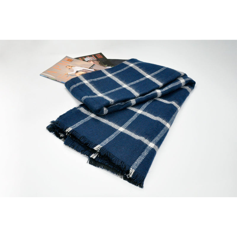 Plaid Fringed Blanket Wrap Scarf
