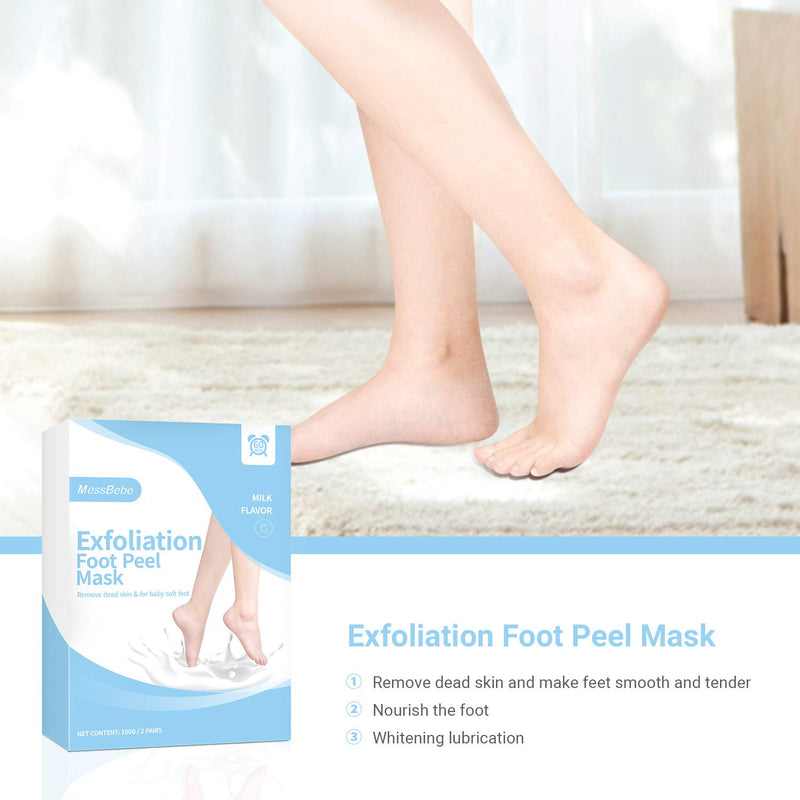 Foot Peel Mask 2 Pack, Dead Skin Callus Remover for Feet,Good Smelling Exfoliator Foot Masks Plantifique, Socks for Baby Soft Feet - Lavender