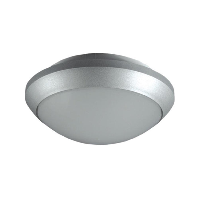 Exterior Ceiling / Wall Light IP54 - Arealite Tandem E27 Silver - The Lighting Shop