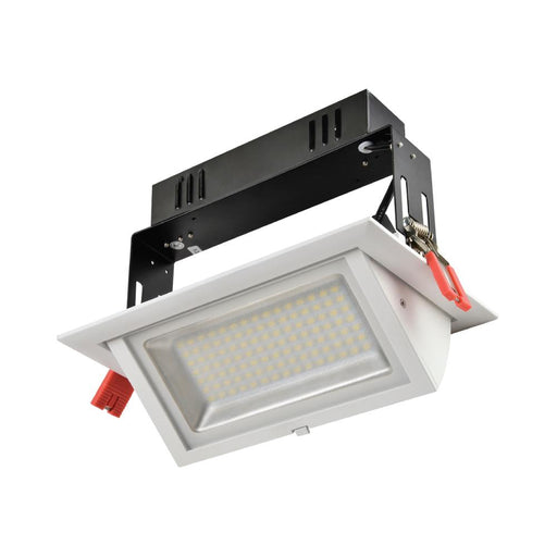 40W Geoled Interior Rectangular LED Tiltable Shop Downlight 245mm * 160mm * 145mm - The Lighting Shop