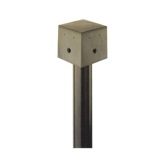 ACcessories For Arealite Kit And Set Fittings - Adattatore Pole Mount Box Black 1-4 Kit Fittings - The Lighting Shop
