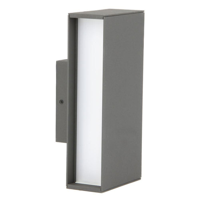 230V  3000K Warm White Exterior Aluminium LED 2-Way Surface Mount Wall Light IP54 210H * 100W * 78D - The Lighting Shop