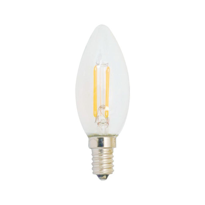 230V LED CAndle Filament Lamp (E14) 2700K Warm White - The Lighting Shop