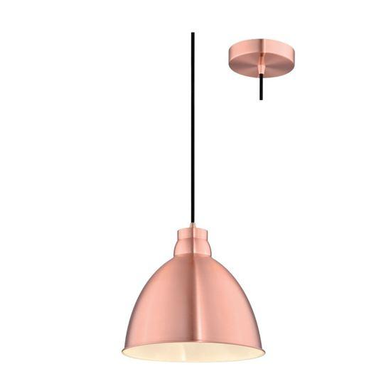 230V Interior Metal Over Counter / Breakfast Bar Pendant (Copper) Include LED Filament Lamp - The Lighting Shop