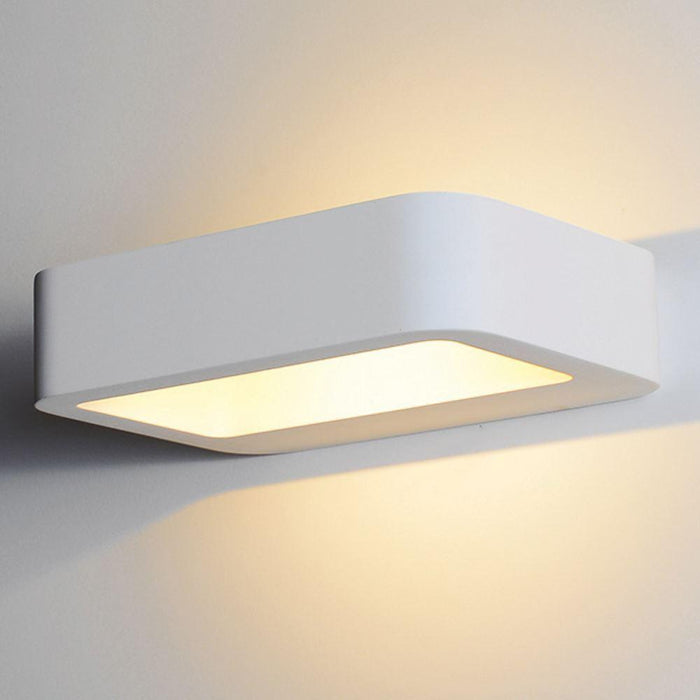230V Interior Paintable Plaster LED Surface Mounted Wall Light (8439) 200 * 150 * 50 3000K Warm White - The Lighting Shop