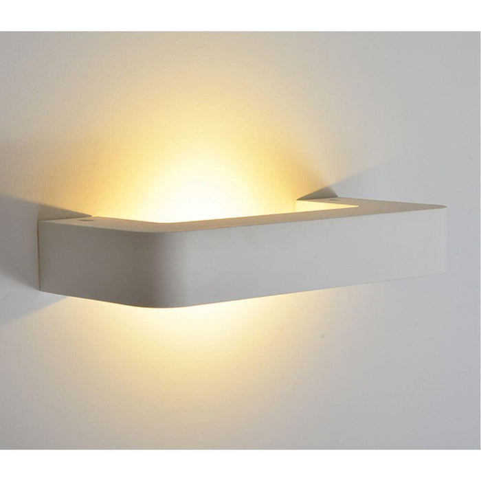 230V Interior 230V Interior Paintable Plaster LED Surface Mounted Wall Light (8430)Paintable Plaster LED Surface Mounted Wall Light (8430) 400Lm - The Lighting Shop