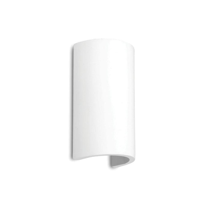 230V Interior Paintable Plaster LED Surface Mounted Wall Light (8428) 100 * 50 * 160 3000K Warm White - The Lighting Shop