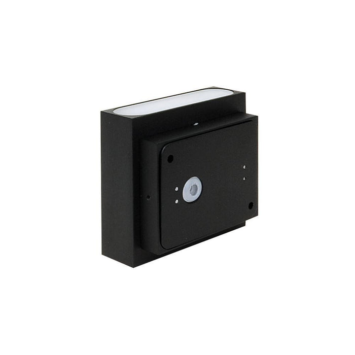 230V Exterior LED Brushed Aluminium Surface Mount Up/Down Wall Light - IP54 100L * 75H * 24D - The Lighting Shop