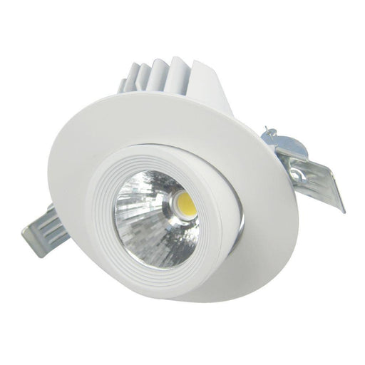 13W Geoled Round Gimbal Downlight 3K/4K/6K CCT White Front Face:103mm DIA - The Lighting Shop