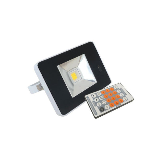 10W LED Floodlight IP65 Water Resistant 4K Natural White  White With Sensor - The Lighting Shop