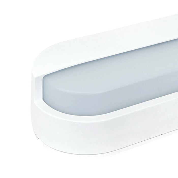 Exterior 12W IP65 LED, Eyelid Bulkhead 3K (Black) Warm White 230 * 105 * 61mm - The Lighting Shop