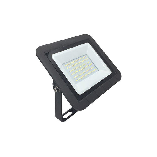230V 50W LED Floodlight IP65 4K  Natural White Black Without Sensor 205L * 160W * 33D - The Lighting Shop