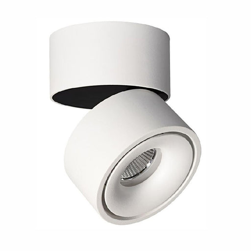 Bijou - Swivel Surface Mounted Downlight - White 3K 8W - The Lighting Shop