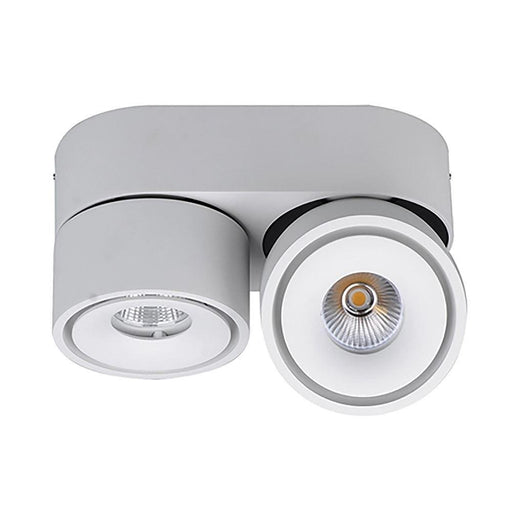 Bijou - Swivel Surface Mounted Downlight - White 3K 2 x 8W - The Lighting Shop