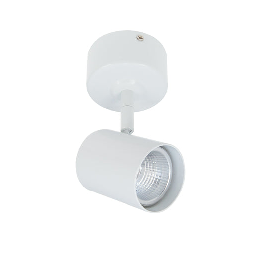 6W Surface Mount Knuckle Spot 3000K Warm White, Cutout: 65mm - WHITE - The Lighting Shop