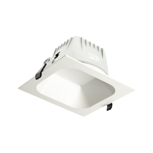 Square Low Glare Commercial Large 4000K Natural White, Cutout:150mm - WHITE - The Lighting Shop