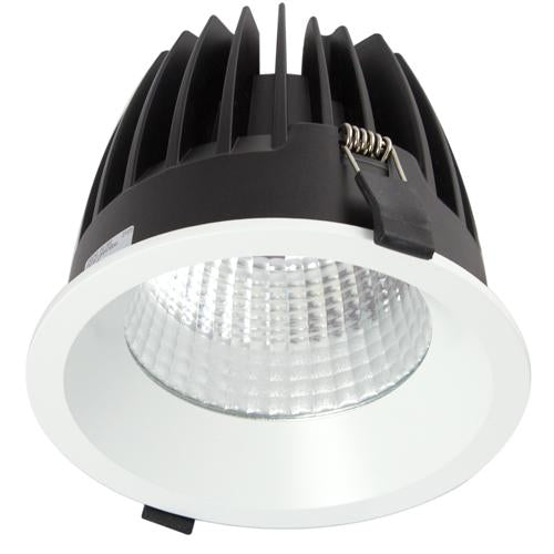 32W Large Low Glare Commercial Recessed Fixed Downlight 4000K Natural White, Cutout: 165mm - The Lighting Shop