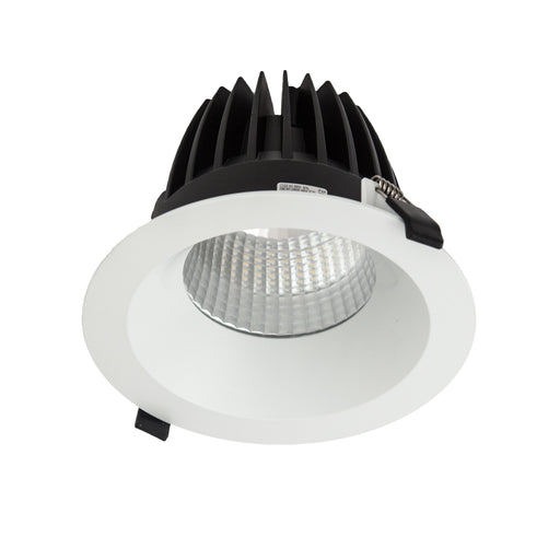 52W Large Low Glare Commercial Recessed Fixed Downlight 4000K Natural White, Cutout: 200mm - The Lighting Shop