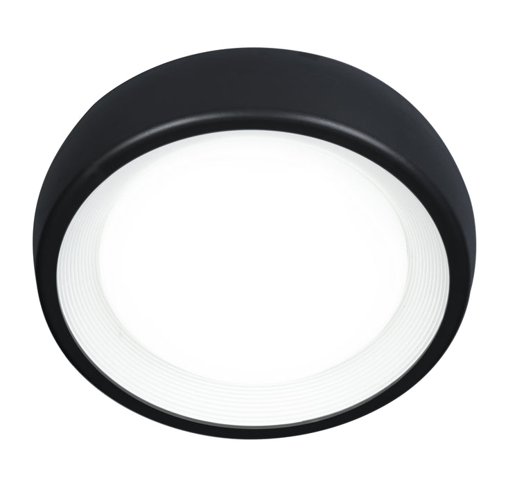 8W LED Exterior Ceiling Button Range Black 3000K Warm White D190 X H74mm - The Lighting Shop