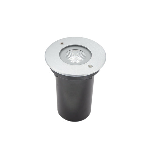 6W Exterior Inground LED Round Uplight 40° IP67 Warm White Stainless Steel - The Lighting Shop