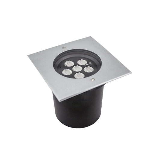 12W Exterior Inground Asymmetric Square Asymmetric 45° IP67 12W 24V Stainless Steel - The Lighting Shop