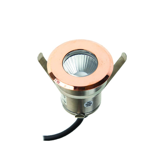 4.3W LED Exterior Inground Uplight Copper Face Copper 3000K Warm White - The Lighting Shop