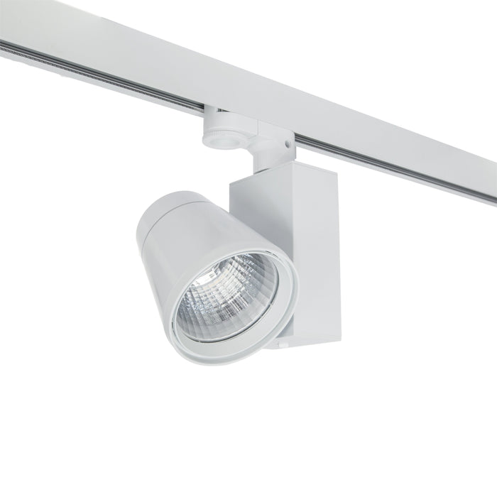 26W Three Circuit LED Track Spot Natural White 4K White Di95 * W145 * H184mm - The Lighting Shop