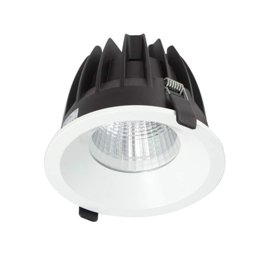 25W Large Low Glare Commercial Recessed Fixed Downlight 3000K Warm White, Cutout: 125mm - The Lighting Shop
