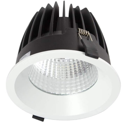 32W Large Low Glare Commercial Recessed Fixed Downlight 3000K Warm White, Cutout: 125mm - The Lighting Shop
