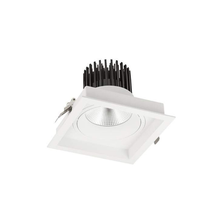 28W Cevon Tilt Xl 3000K Warm White, Dim: L175 * W175 * H135mm - WHITE - The Lighting Shop