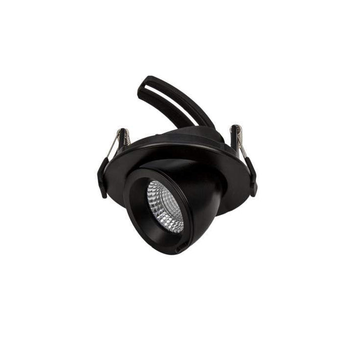 9W Mini Tilt / Rotate Warm White 3K Black Cutout: 75mm - The Lighting Shop