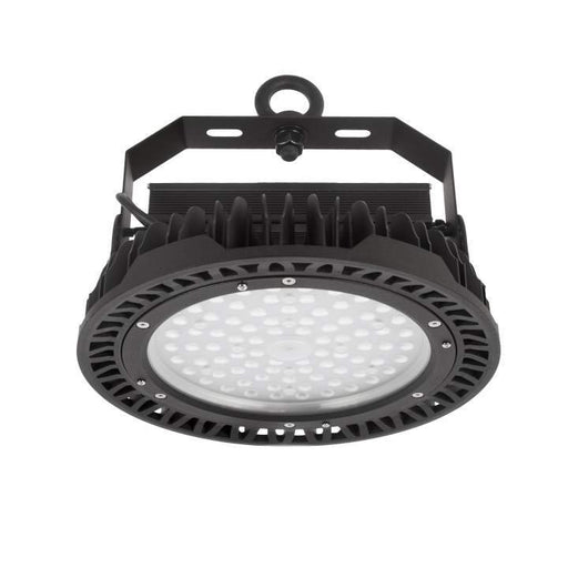 200W LED Industrial High Bay Daylight 6K Black DIA: 320mm - The Lighting Shop