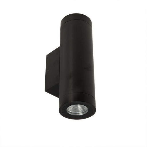 Mariner Ii Column Spot Double Titanium Black 240V Dimmable Wall Light 2700K Warm White L187 X W47 X D89mm - The Lighting Shop