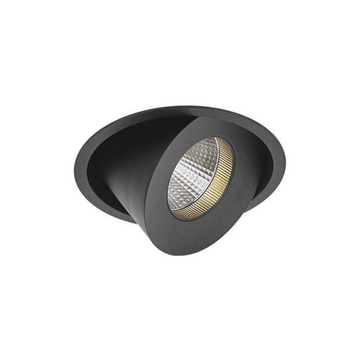 20W Cevon Large Tilt Rotate X-Low Glare 3000K Warm White, DIA: 124mm - BLACK - The Lighting Shop