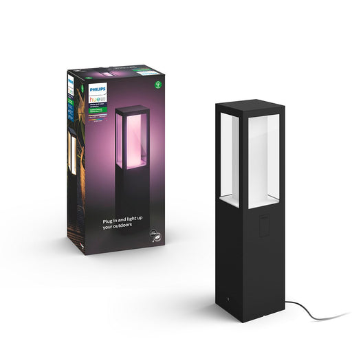 Impress Outdoor Pedestal Light IMPRESS HUE WACA AU PEDESTAL LED BLACK 2 - The Lighting Shop