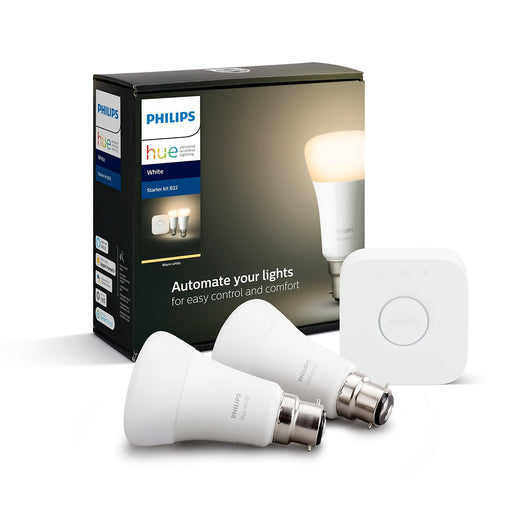 PHILIPS HUEW 9W A60 B22 2SET ANZ Dual pack B22 - The Lighting Shop