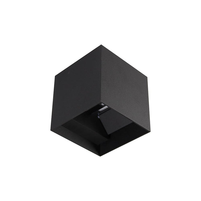 "Wall Cube Two Way Up Down"" 2 X 6W"" - BLACK - The Lighting Shop"