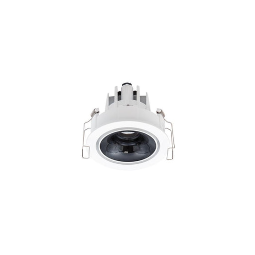 11W WHITE/HIGH 3000K WARM WHITE  GLOSS BLACK ROUND TILT/ROTATE CRI97 - The Lighting Shop