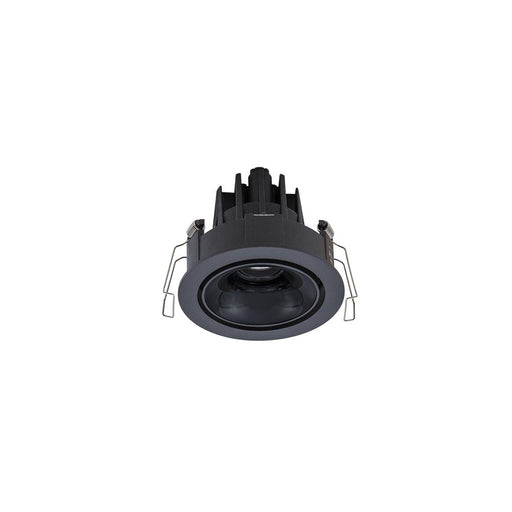 11W BLACK/HIGH 3000K WARM WHITE GLOSS BLACK ROUND TILT/ROTATE CRI97 - The Lighting Shop