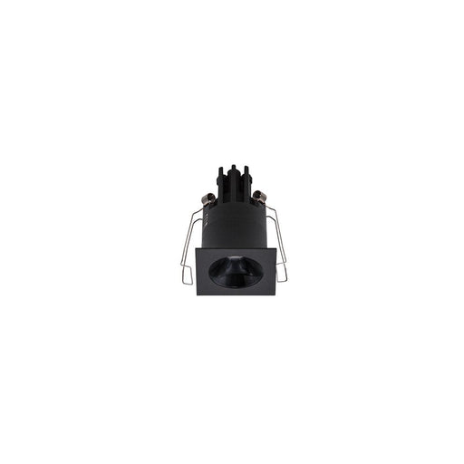 3W BLACK/HIGH GLOSS BLACK 3000K WARM WHITE MINI SQUARE DARK LIGHT D44 x 70mm - The Lighting Shop